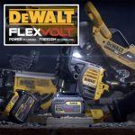 Уникальная линейка аккумуляторного бесщеточного инструмента DeWALT FLEXVOLT