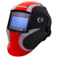 Сварочная маска-хамелеон ARTOTIC SUN7B чёрно-красный (3 наружных и 1 внутренняя слюда в комплекте)