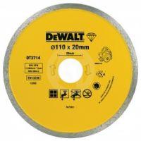 Диск алмазный DeWALT, 110х1.6х20.0мм, сплошной, для мокрой и сухой резки керамической плитки и каменной керамики, для плиткорезов DWC410.