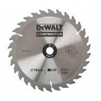 Диск пильний DeWALT, 160х20мм, 30 зубов, угол заточки +10 градусов, геометрия зуба WZ/ATB, универсальное использование, переходное кольцо d=16мм.